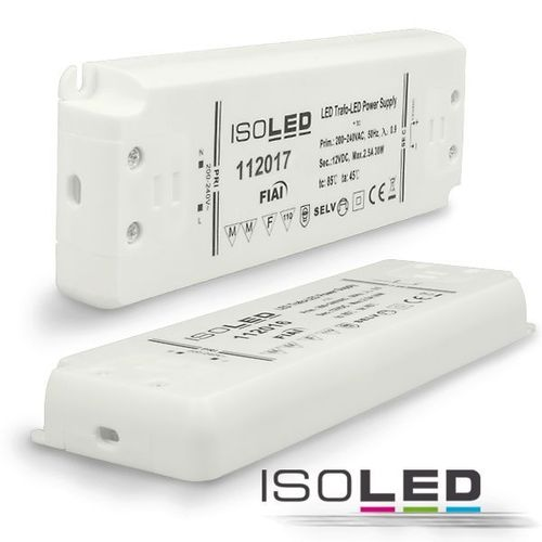 Isoled LED-Trafo 24V 0-30W