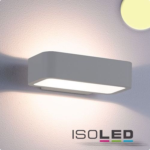 Isoled LED-Wandleuchte 7W IP54 silber/anthrazit